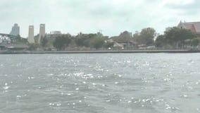 River Chao Phraya. View of Bangkok stock video footage