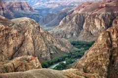 River in Charyn canyon Royalty Free Stock Image