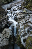 River and the Chasm in Fiordland National Park, New Zealand. Stock Photography