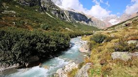 River Chelenreuss on an Alm in Switzerland stock video footage