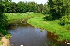 The river Cheremuha in Rybinsk, the Yaroslavl region Royalty Free Stock Photos