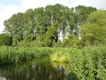 The River Chess, a chalk stream in the Chiltern Hills, Hertfordshire, UK. This photo was taken in Chorleywood, Hertfordshire, England, UK stock photos