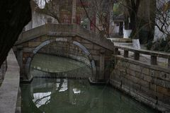 River in China stone in ancient village. Nice royalty free stock photography