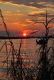 River Chobe,Botswana. Evening on river Chobe in Botswana,Africa royalty free stock photos