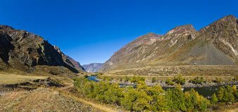 River Chulyshman valley Stock Photography