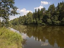 The river Chusovaja. Sverdlovsk area. Royalty Free Stock Photo