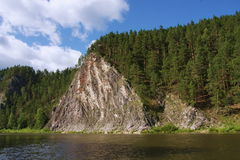 River Chusovaya. Nature of the Ural River Chusovaya in the Perm region Royalty Free Stock Images