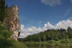 River Chusovaya. Nature of the Ural River Chusovaya in the Perm region Royalty Free Stock Photography