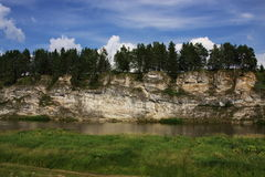 River Chusovaya. Nature of the Ural River Chusovaya in the Perm region Royalty Free Stock Photos