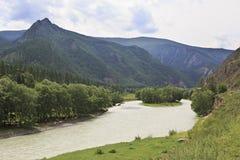 River Chuya near Chuysky Trakt Royalty Free Stock Image