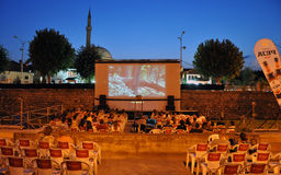 River Cinema over the Bistrica River, Prizren Royalty Free Stock Photos