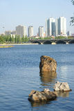 River and city Royalty Free Stock Image
