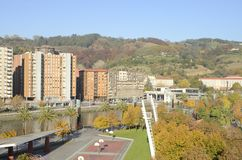 The river and the city of Bilbao Stock Photography