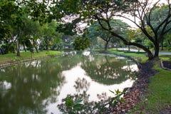 River. City center park. A canal runs through Royalty Free Stock Photos