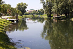 River in city of Eskisehir Royalty Free Stock Photography