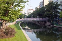 River in city of Eskisehir Royalty Free Stock Images