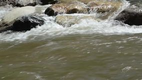 River in city stock video footage