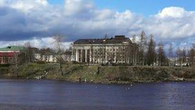 River in city park stock video