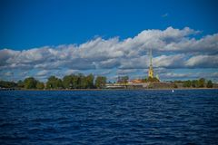 River and city Saint-Petersburg Royalty Free Stock Image