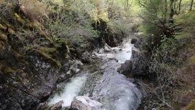 River Clachaig Glencoe Scotland UK stock footage