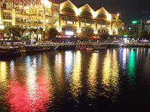River at Clarke Quay Stock Image