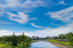 River with Clear sky Royalty Free Stock Photography