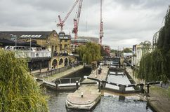 River close the food market in Camden Town London Stock Image