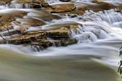 River Close-up - Multi-waterfall. Close-up shot of a small waterfall Royalty Free Stock Photos
