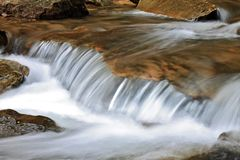 River Close-up. Close-up shot of a small waterfall Royalty Free Stock Image