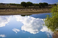 River with clouds Royalty Free Stock Photography
