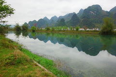 River in cloudy day,Bama China Stock Images