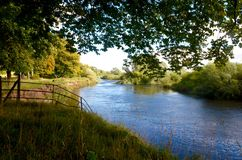 River Clyde, Barons Haugh in Motherwell Royalty Free Stock Image