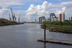 River Clyde, Glasgow. River Clyde in Glasgow, Scotland Royalty Free Stock Photo