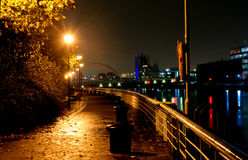 On the River Clyde, Glasgow. At night Stock Image