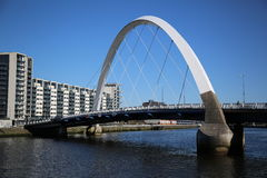 The River Clyde, Glasgow, Scotland, UK. The River Clyde at the Clyde Arc Bridge. Commonly known as the Squinty Bridge Stock Images