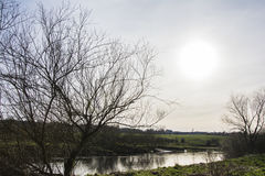 The River Clyde. Image from the River Clyde from Dalziel Estate, Motherwell Royalty Free Stock Photo
