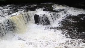 River Clyde at New Lanark village, Scotland, HD footage stock video