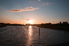 River Clyde sunset Royalty Free Stock Images