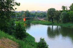 River Cna. Evening landscape on the river Price royalty free stock photos