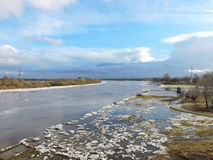 River  coast in winter Stock Photography