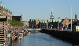 River at Copenhagen Royalty Free Stock Images