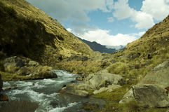 River in the Cordilleras mountain Stock Image