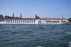 River Countess ferry boat, Terminal S.Basilio. 10 - May - 2019, Venice, Italy: River Countess ferry boat, involved in the accident with the cruise ship MSC Opera stock images