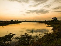 River countryside in the evening Stock Image