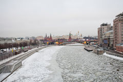 River covered with ice Royalty Free Stock Photo