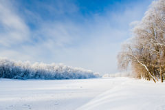 River covered in ice. River Gauja covered in ice Royalty Free Stock Images