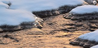 The river is covered with ice. Royalty Free Stock Images