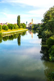 The River Crisul Repede flowing through Oradea Royalty Free Stock Image