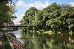 River Crisul Repede in Oradea. Romania Stock Photo