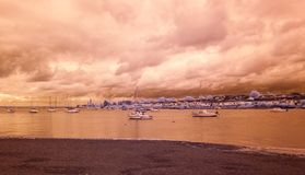 River crouch infrared. River crouch, south Woodham Ferrers in infrared Stock Images